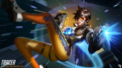 konachan-com-228121-bodysuit-brown_eyes-brown_hair-building-gloves-goggles-gun-liang_xing-overwatch-short_hair-signed-skintight-tracer-watermark-weapon