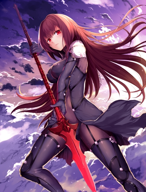 yande-re-381578-abusoru-armor-bodysuit-erect_nipples-fate_grand_order-scathach_fate_grand_order-thighhighs-weapon