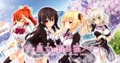 Konachan.com - 205408 blush michi_kuroki oozora_itsuki patricia_of_end ponytail seifuku shachi_yuri skirt thighhighs twintails wink yuuki_asuhara