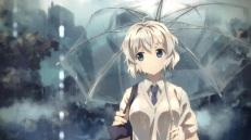 Konachan.com - 205573 original rain seifuku umbrella water white_hair yuuki_tatsuya