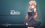 Konachan.com - 205603 brown_eyes brown_hair dille_blood dlsite.com dress headband long_hair original refeia tagme