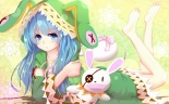 Konachan.com - 206388 aqua_eyes aqua_hair bakanoe blush date_a_live doll long_hair puppet yoshino_(date_a_live) yoshinon_(date_a_live)