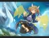 Konachan.com - 235109 animal_ears armor ayano_keiko blush brown_hair kogetsu_azami petals red_eyes ribbons skirt sword_art_online thighhighs twintails wings