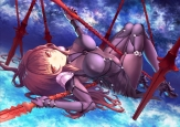 yande.re 386042 a_taisa armor bodysuit erect_nipples fate_grand_order heels scathach_(fate_grand_order) thighhighs weapon