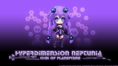 Konachan.com - 207730 akiranyo bodysuit braids breasts chibi cleavage hyperdimension_neptunia purple_hair purple_heart twintails vector