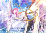 Konachan.com - 237076 crown dragon flowers negimapurinn pink_eyes pink_hair wings