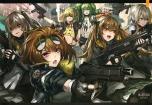 Konachan.com - 243506 girls_frontline m950a_(girls_frontline) scan tagme_(artist) ump-9_(girls_frontline) ump_45_(girls_frontline) vector_(girls_frontline)